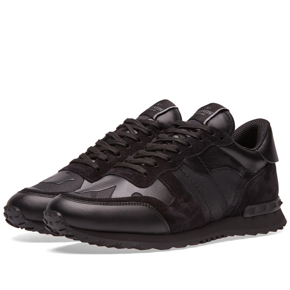 Valentino Noir Rockrunner Sneaker Black
