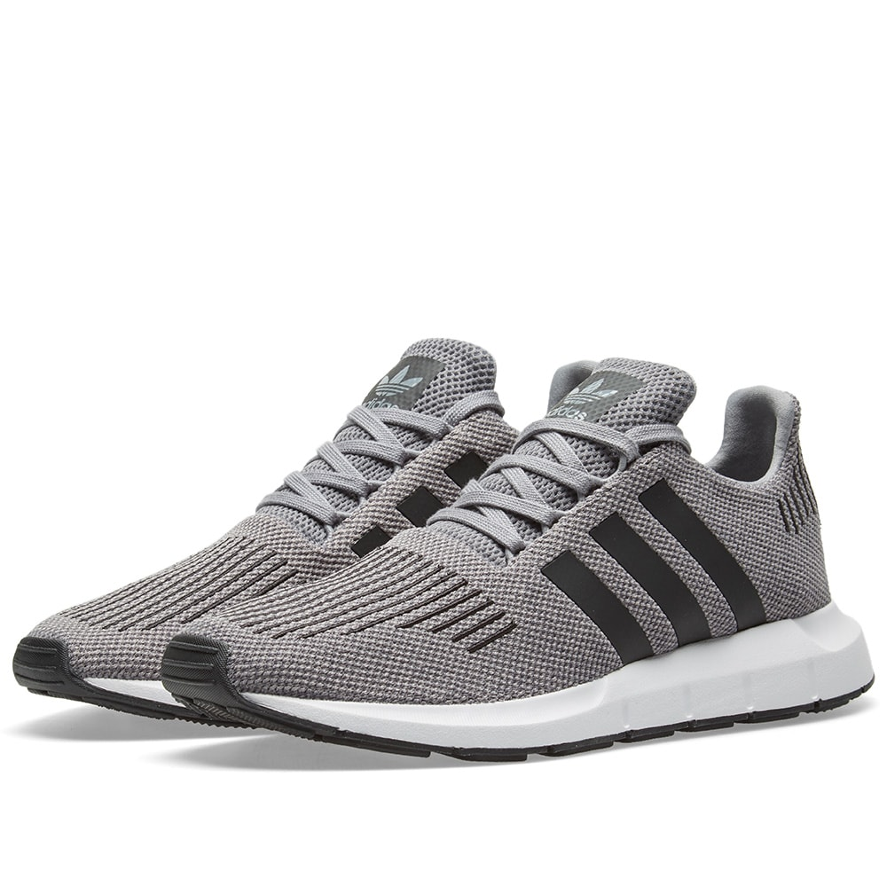 reputable site 6d997 13710 Adidas Swift Run Grey Two, Black   Grey Heather   END.