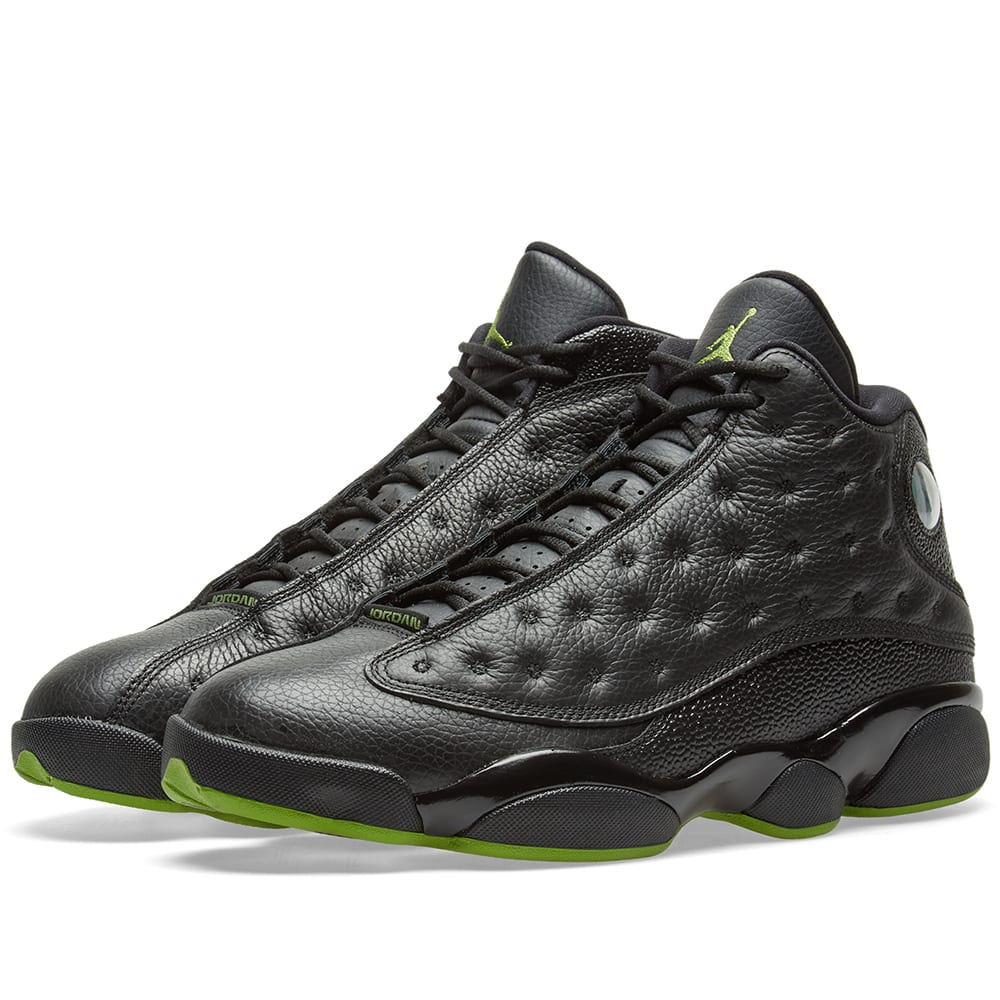 a2b5ce9522da54 Nike Air Jordan 13 Retro OG Black   Altitude Green