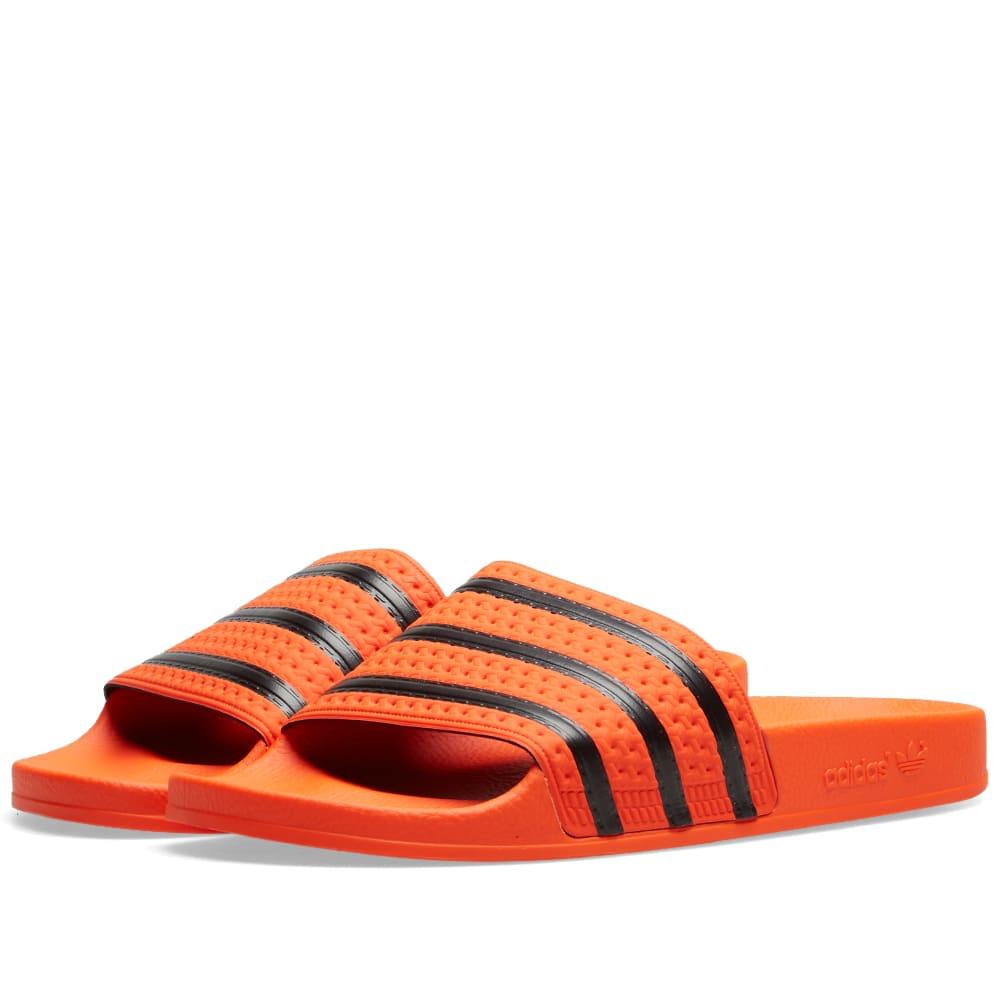 947f0eade09d2f Adidas Adilette Active Orange   Core Black
