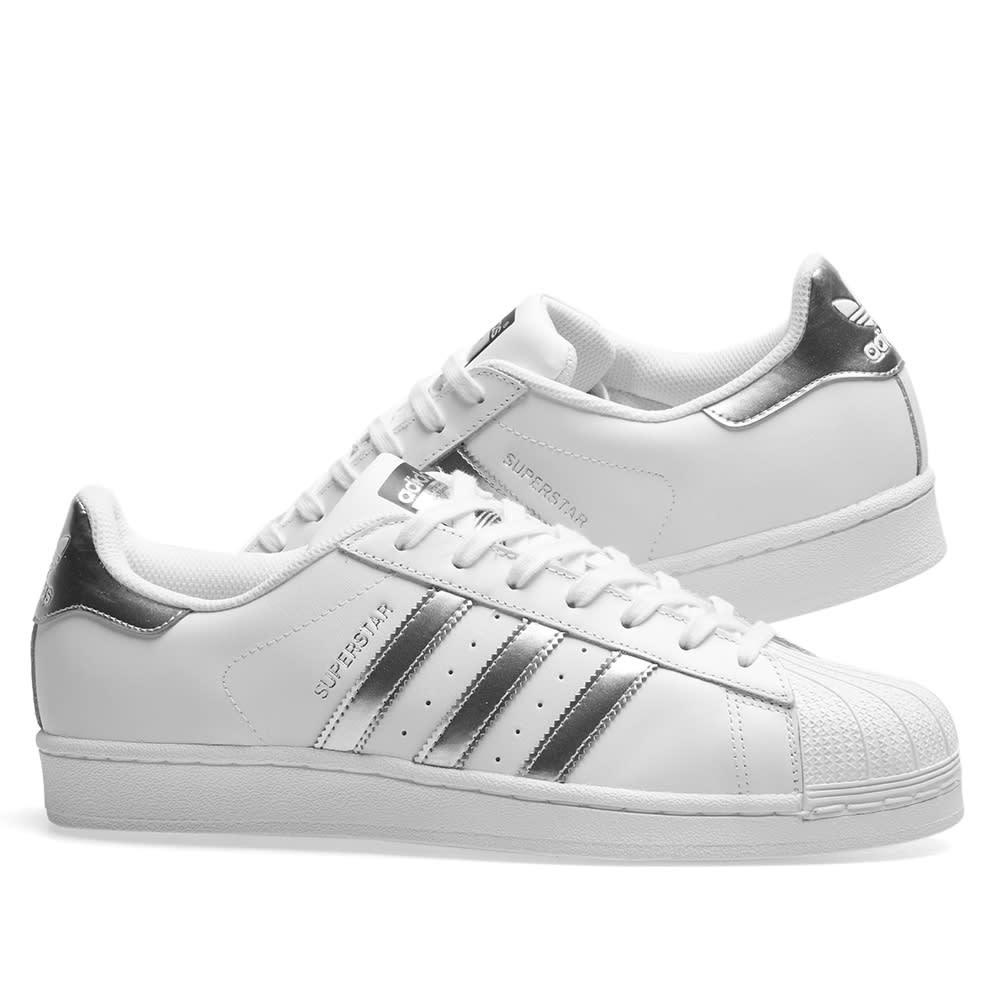 adidas superstar silver metallic 38
