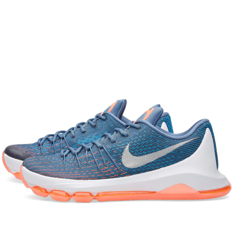 new product 56d58 f2f8f Nike KD 8 Ocean Fog, White   Mid Navy   END.