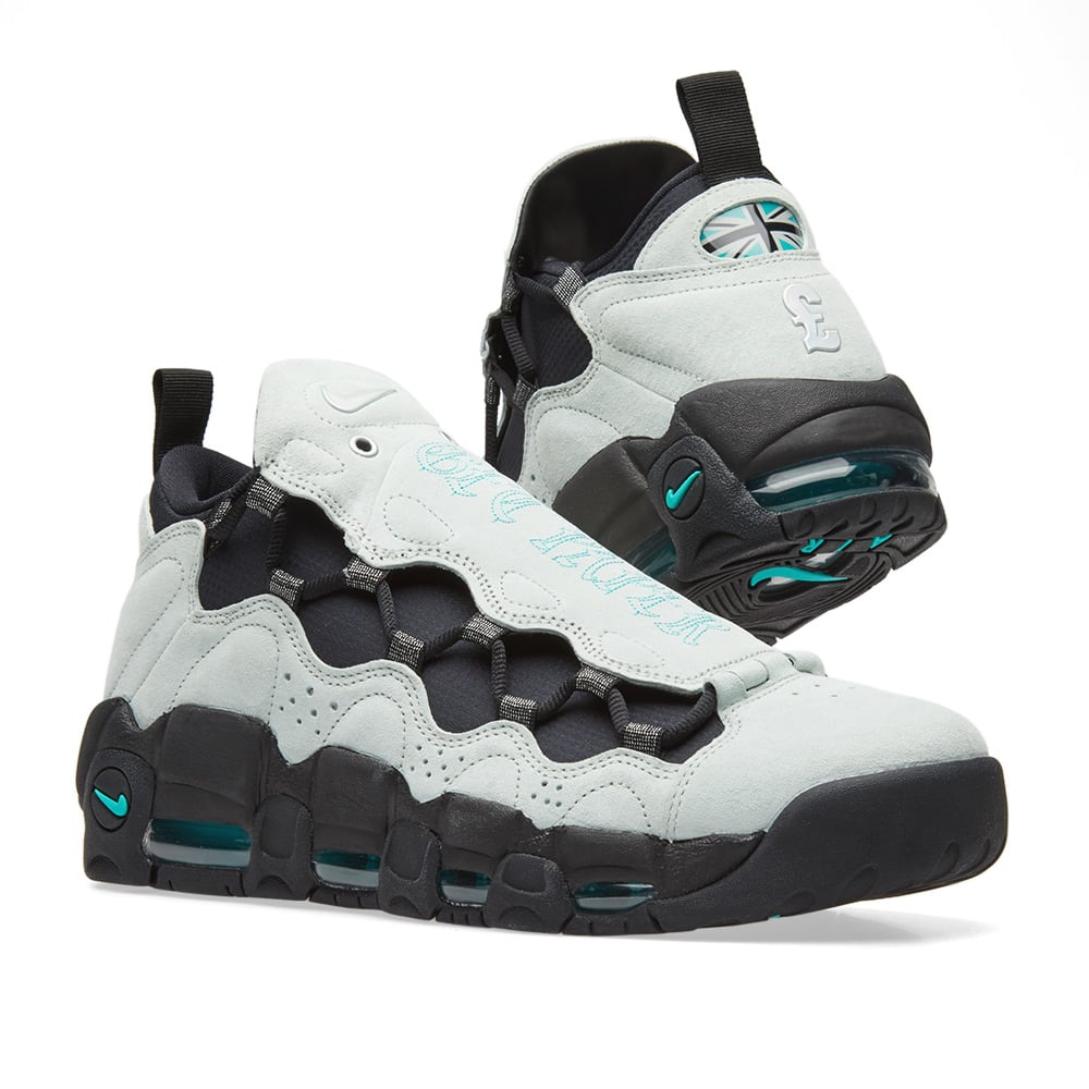 new york 0deee 11339 Nike Air More Money QS. Barley Grey   Jade-Black