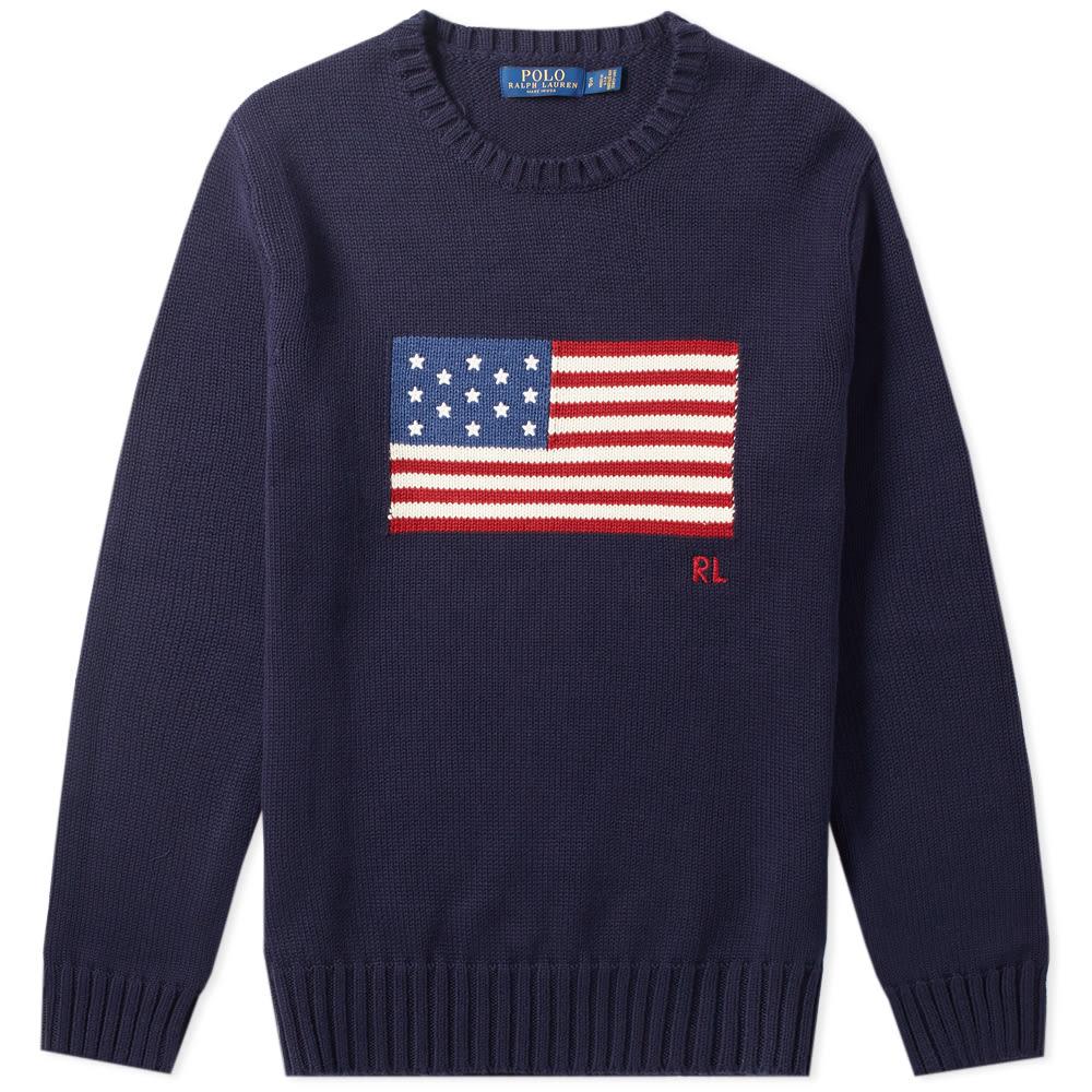 9369feca32a12 Polo Ralph Lauren Flag Intarsia Knit Navy