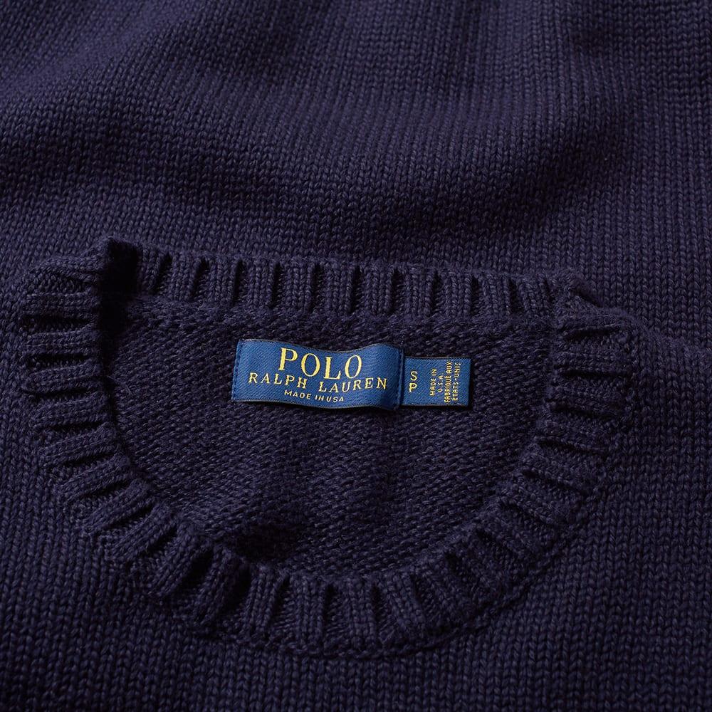 Knit Flag Polo Intarsia Ralph Lauren nXPw80Ok
