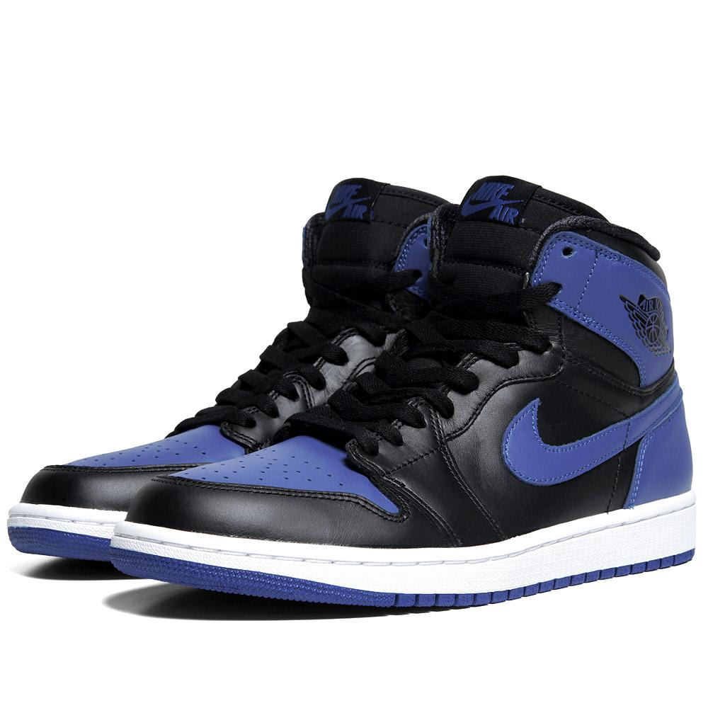 Nike air jordan i retro high og black varsity royal for Jordan royal 1 shirt