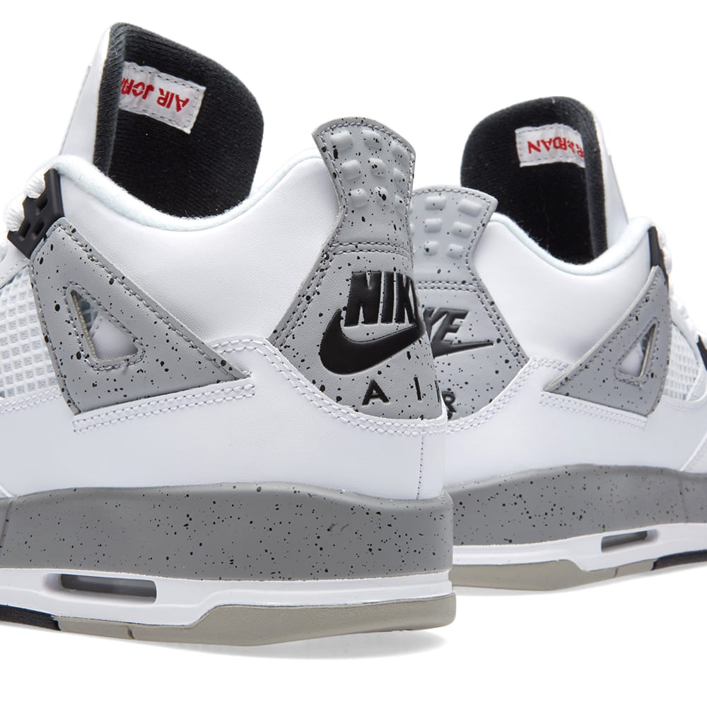 best website f728e 95e3c Nike Air Jordan 4 Retro OG BG White, Fire Red   Black   END.