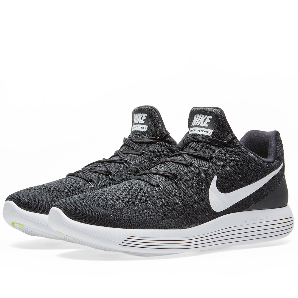 the latest a7b58 98eea Nike LunarEpic Low Flyknit 2 Black, White   Anthracite   END.