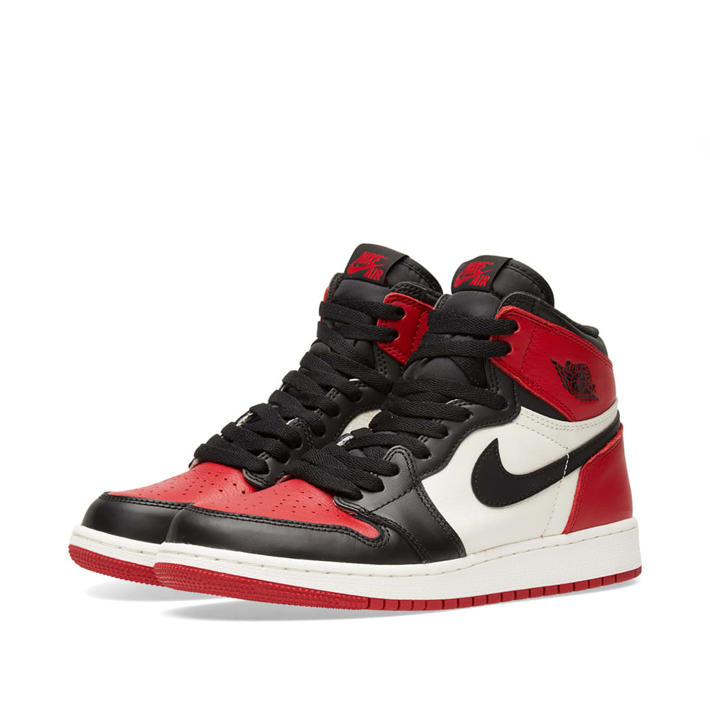 huge discount c2101 9e7de Nike Air Jordan 1 Retro High OG GS Red, Black   White   END.