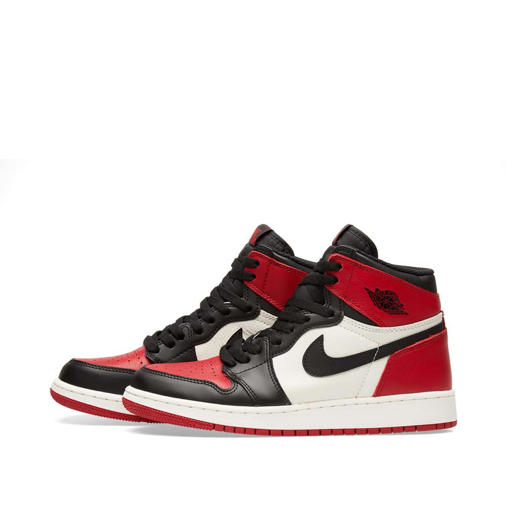 huge discount 33277 1d93f Nike Air Jordan 1 Retro High OG GS Red, Black   White   END.