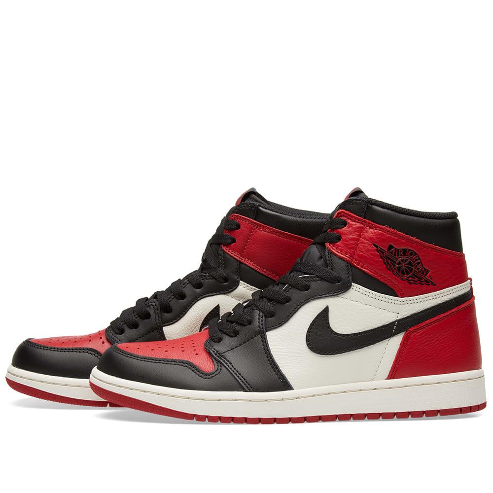 best sneakers 1c18c 45b19 Nike Air Jordan 1 Retro High OG Gym Red, Black   Summit White   END.