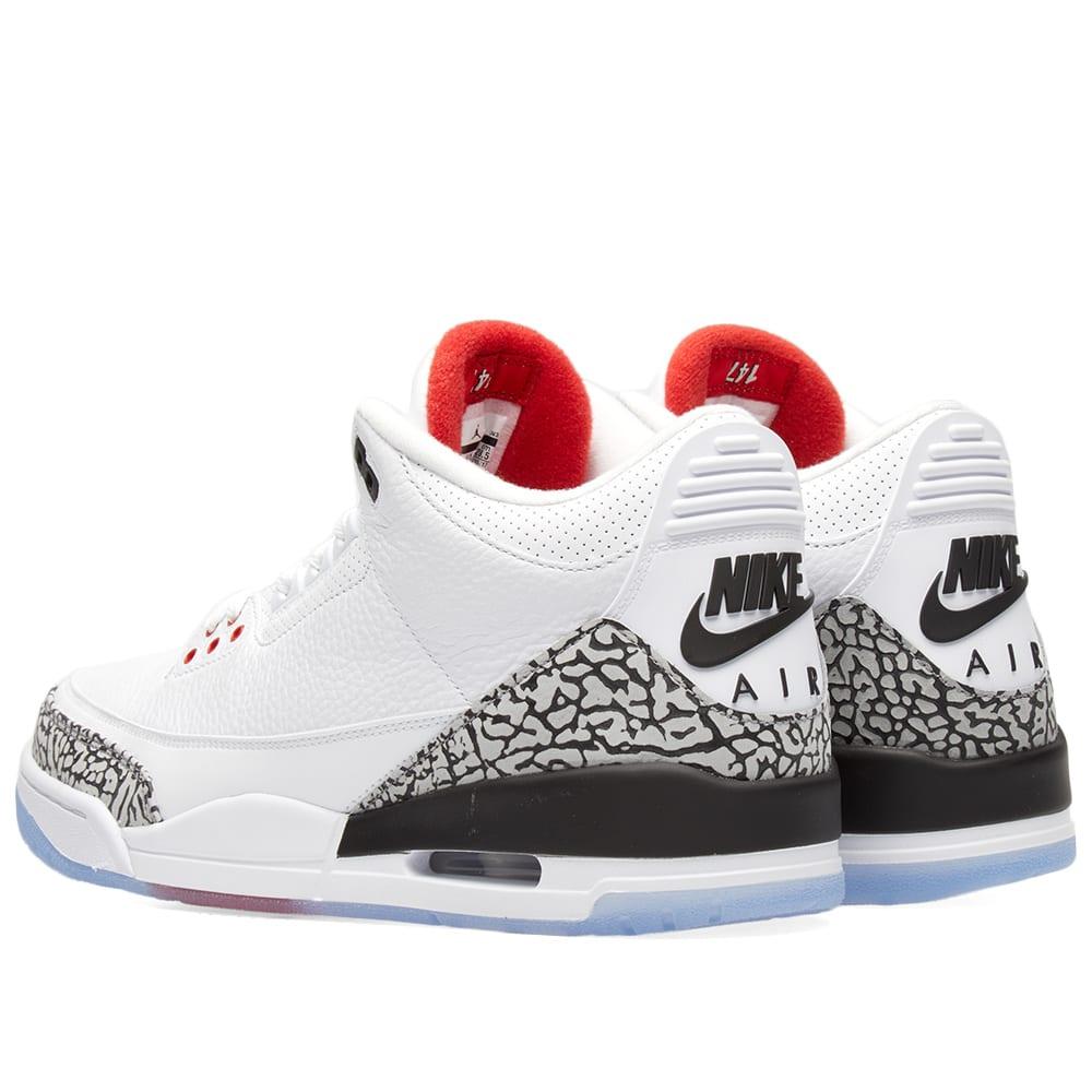fresh styles sports shoes latest fashion Nike Air Jordan 3 Retro EP White, Red & Grey | END.