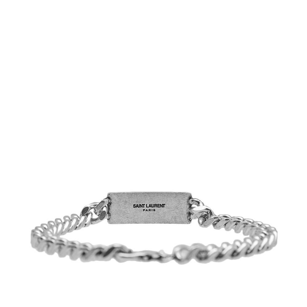 045af81c050 Saint Laurent YSL Plaque Pendant Bracelet Silver | END.