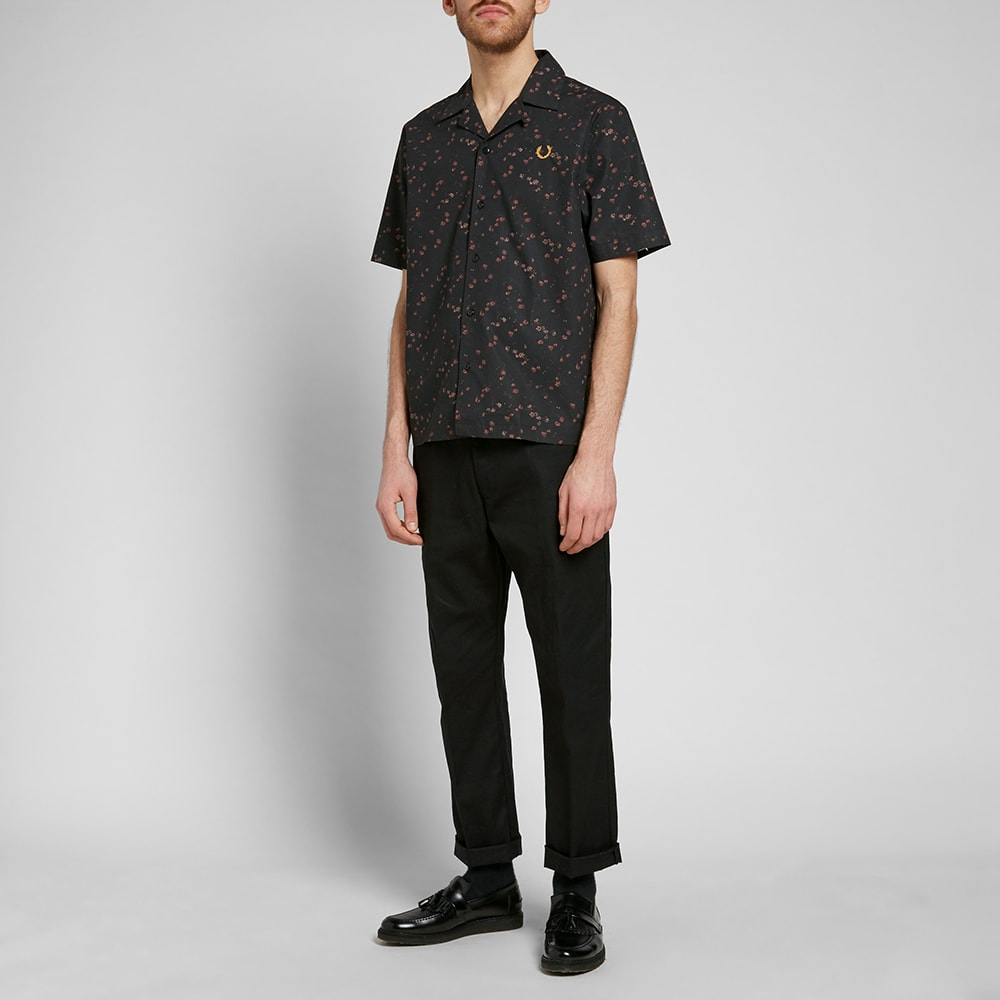 9cc568ca6 Fred Perry x Miles Kane Liberty Bowling Shirt Black