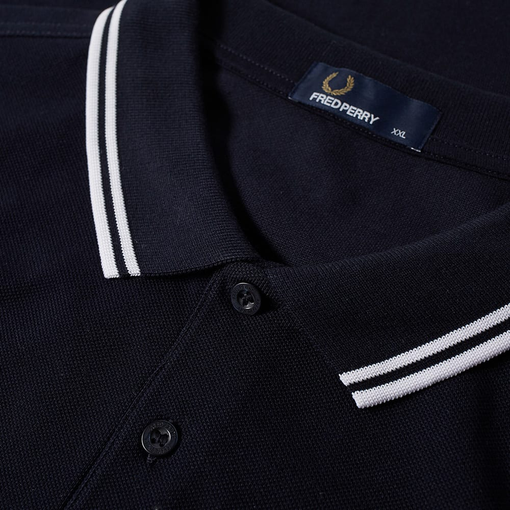 6d9e8f773 Fred Perry Slim Fit Twin Tipped Polo Navy & White | END.