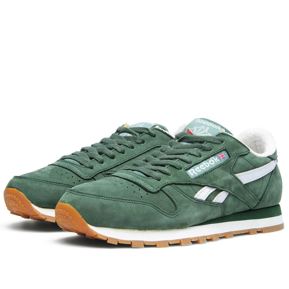 new product 4005a 4042f Reebok Classic Leather Vintage Racing Green   White   END.