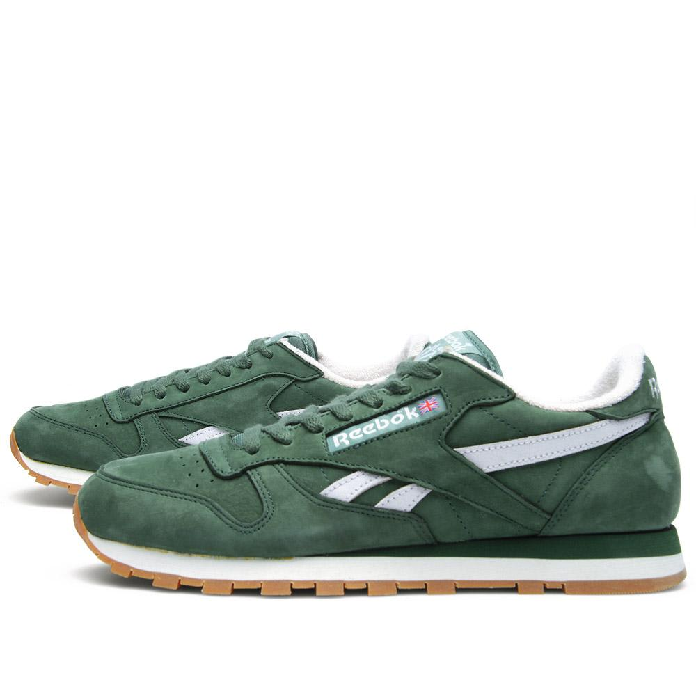 reebok classic leather vintage racing green white. Black Bedroom Furniture Sets. Home Design Ideas