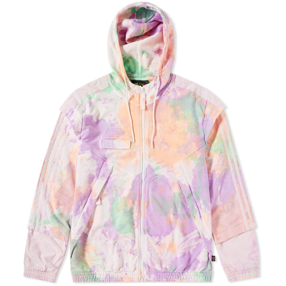 aa01792af1423 Adidas x Pharrell Williams Hu Holi Full Zip Hoody  Holi Powder Dye  Multi    White