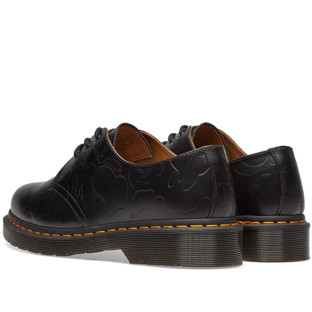 1f1ca60b09 Dr. Martens x Bape Emboss Camo 1461 Shoe. Black Smooth