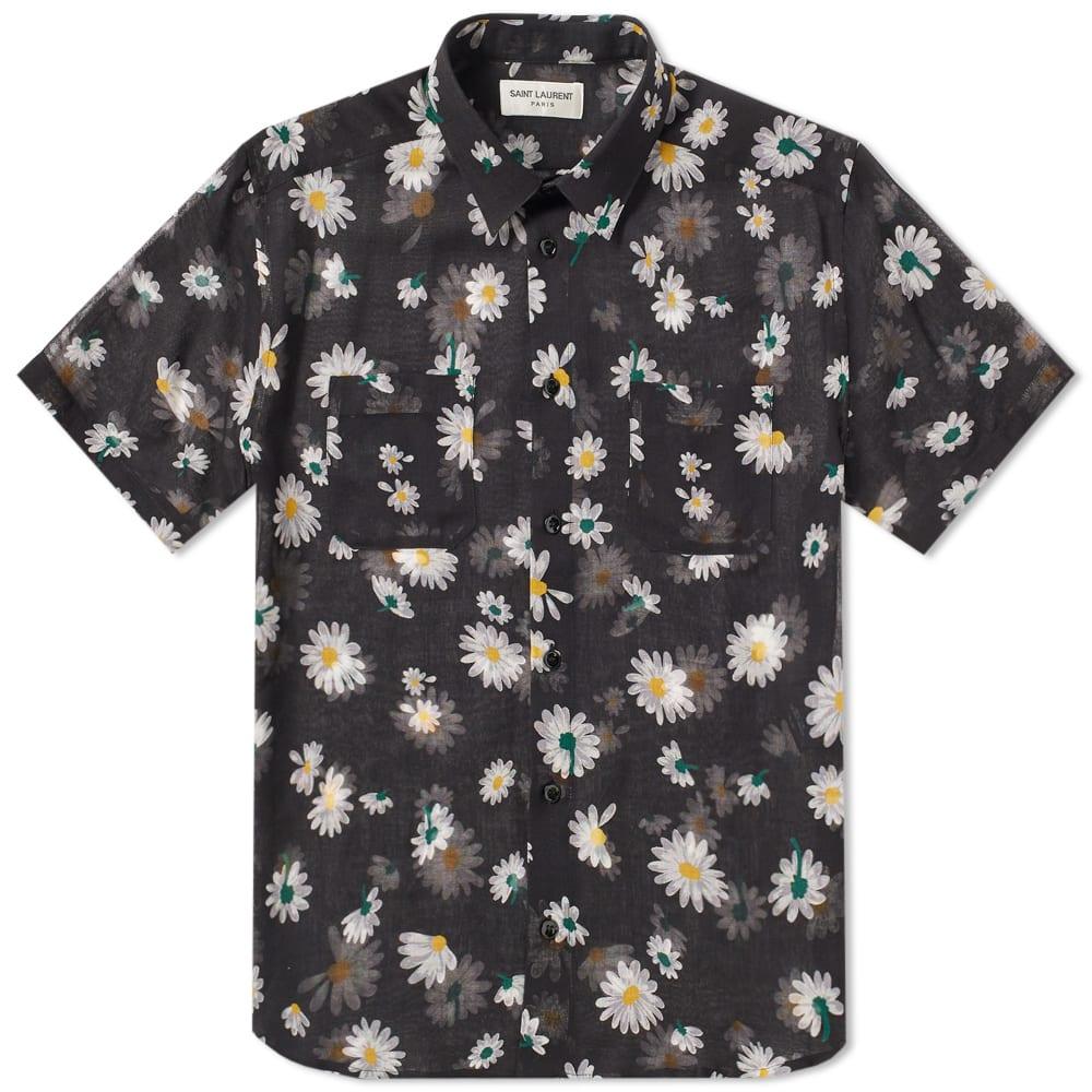 3e47d151ffe Saint Laurent Short Sleeve Flower Shirt