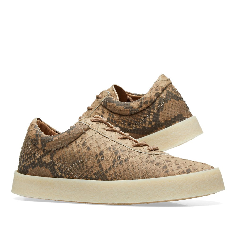 5a3b8a454 Yeezy Season 6 Crepe Sneaker Fake Python Leather