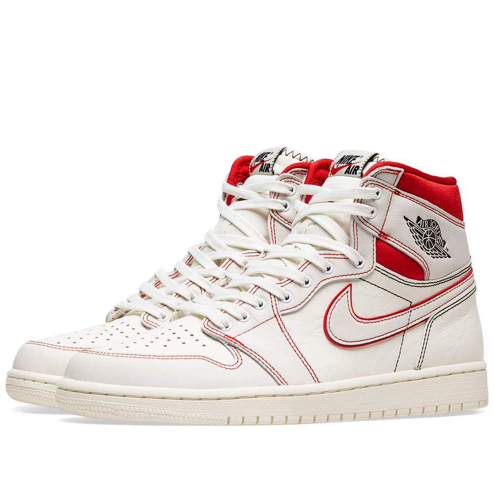 best website 35d1c cd095 Air Jordan 1 Retro High OG  Phantom  Sail, Black   Red   END.