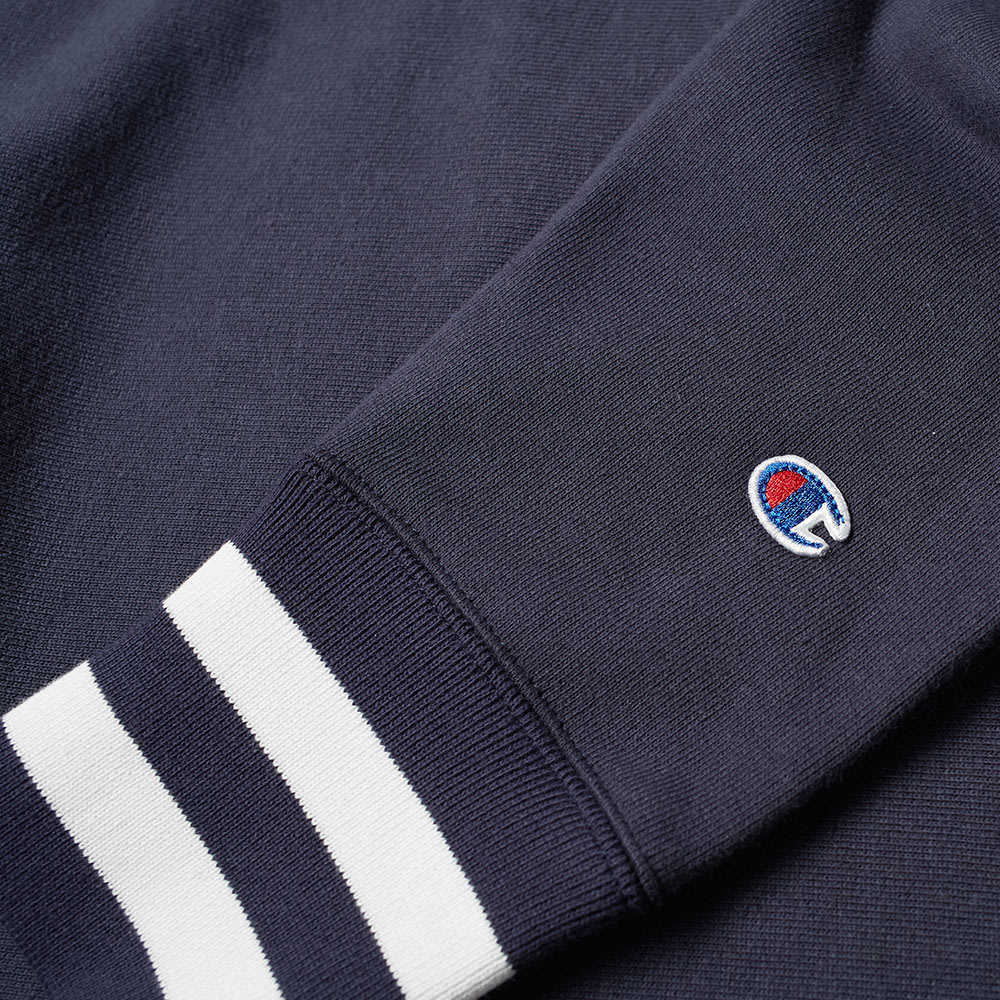 82ad430b Champion Reverse Weave Script Logo High Neck Sweat Navy | END.