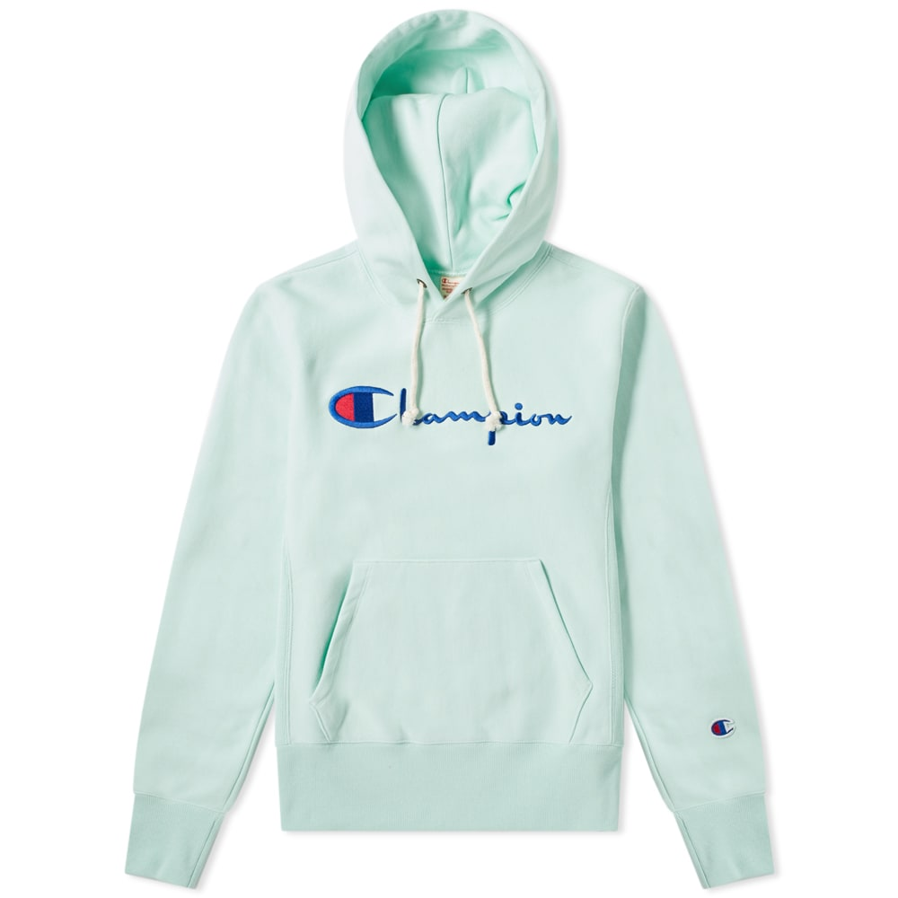 f7bd43c6 Champion Reverse Weave Women's Script Logo Hoody Mint | END.