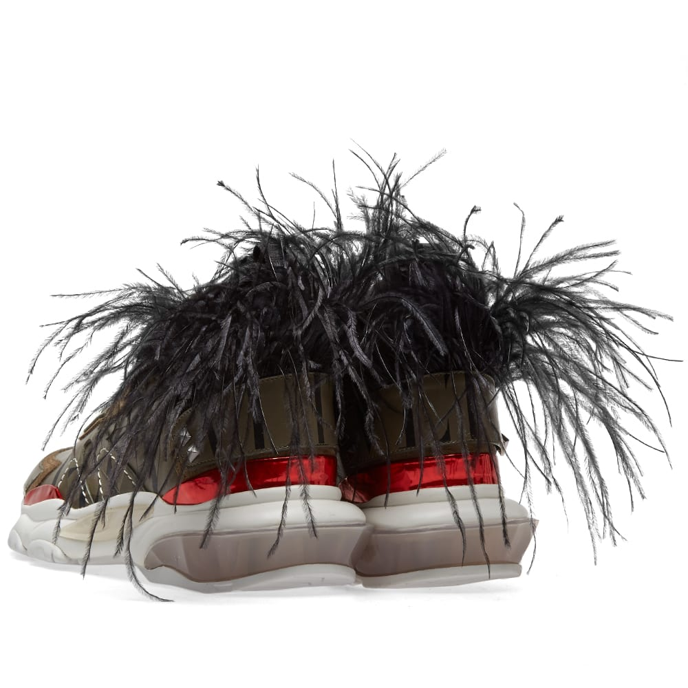 4e52e665a9 Valentino Feather Show Sneaker Camo