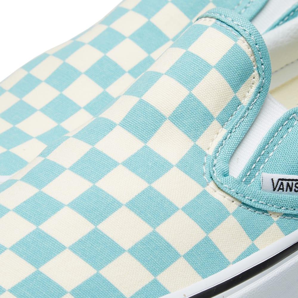 0fdea9cf5e2 Vans UA Classic Slip On Checkerboard Aqua Haze & True White   END.