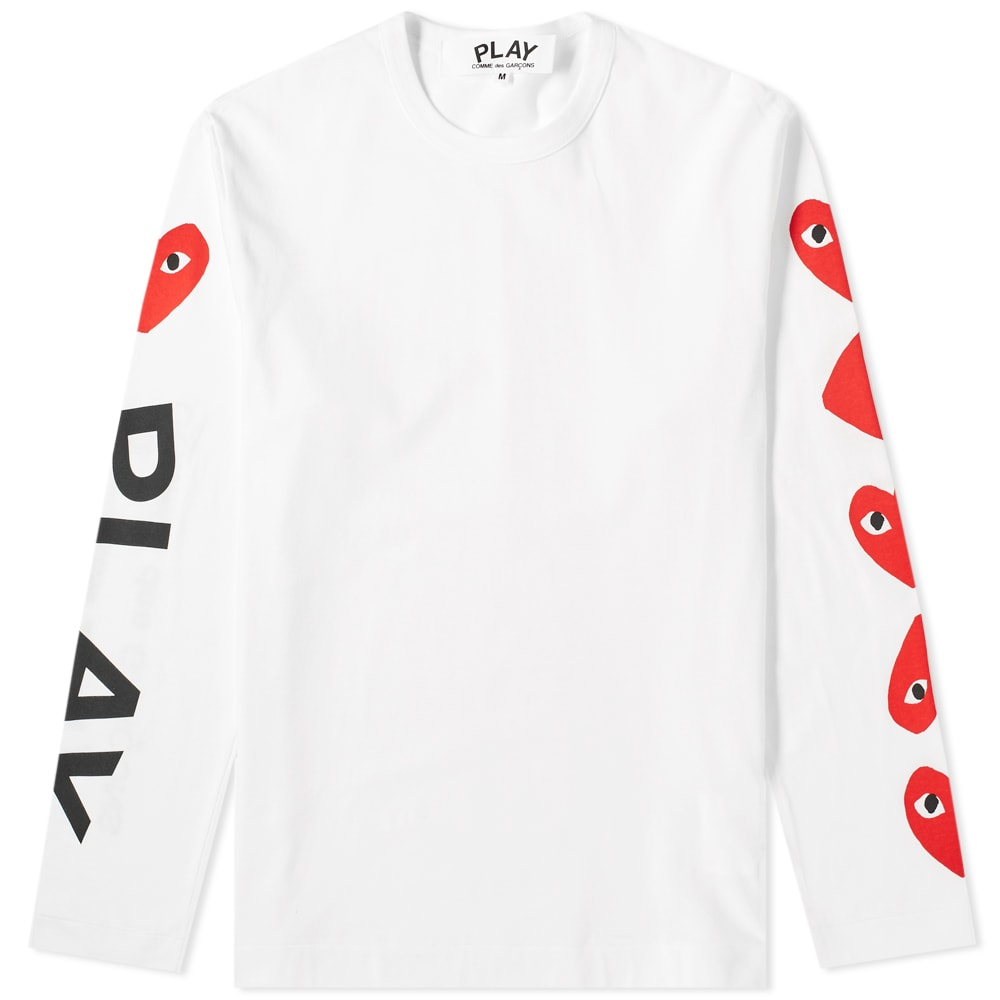 Comme des Garcons PLAY Long Sleeve Multi Heart Tee