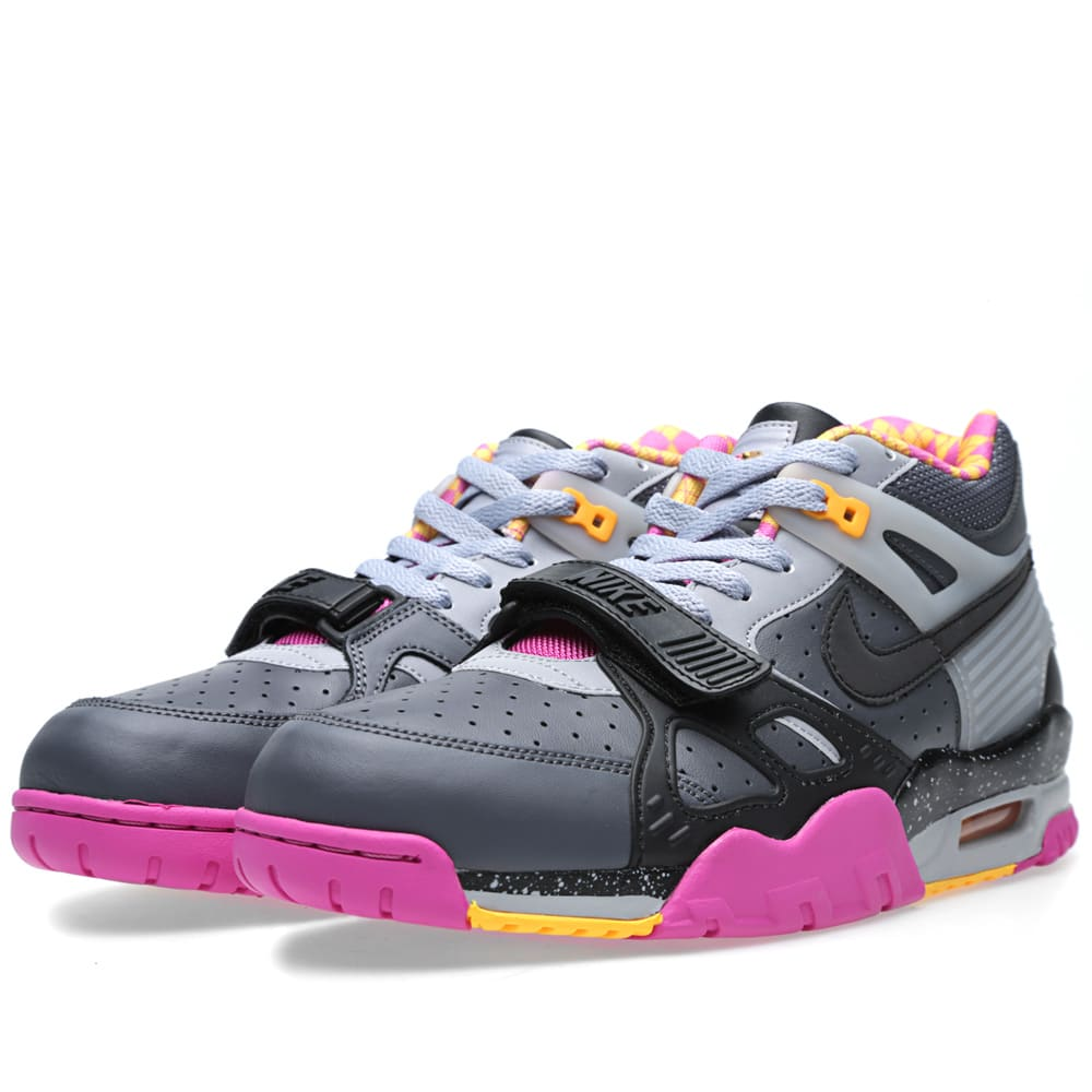 low priced 60a71 ef8e9 Nike Air Trainer III PRM QS  Bo Knows Horse Racing  Dark Grey, Black   Wolf  Grey   END.