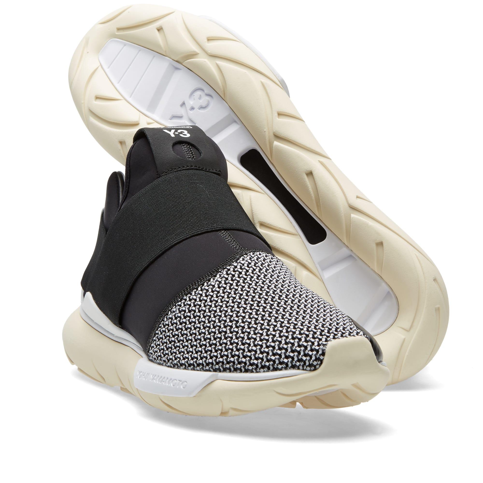new concept e23d6 c5504 Y-3 Qasa Low II Primeknit Black, Cream   White   END.