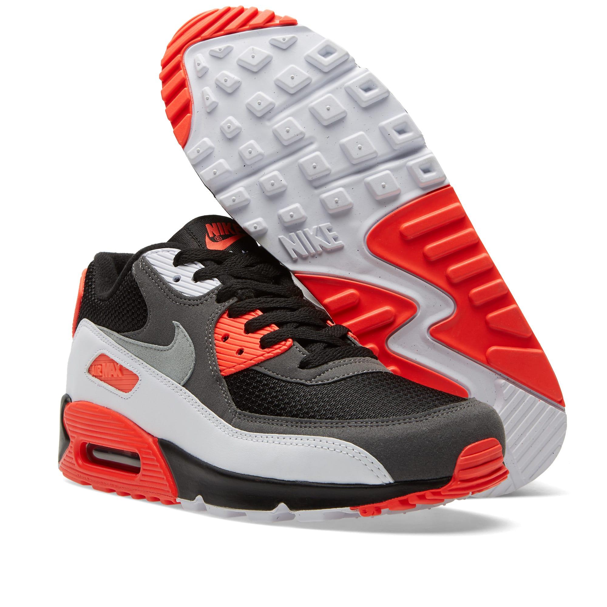 55a0b70da0 Nike Air Max 90 OG 'Reverse Infrared' Black, Neutral & Dark Grey | END.
