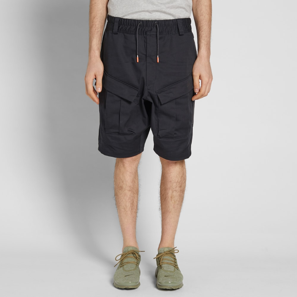 nikelab acg cargo shorts black