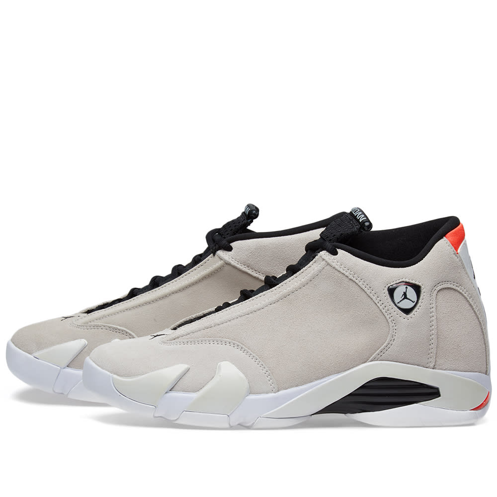 huge selection of 12edb 72b2c Air Jordan 14 Retro Desert Sand, Black   Infrared   END.