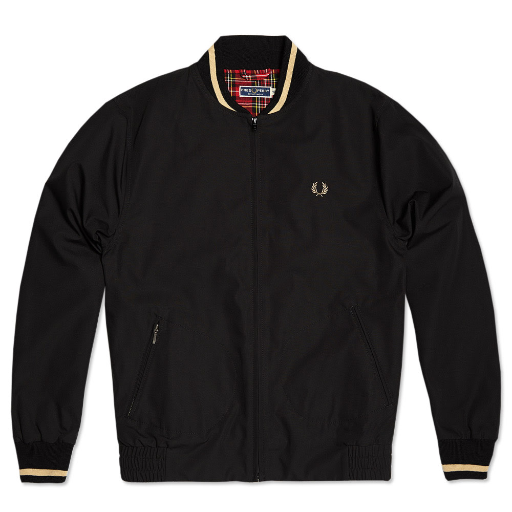 fred perry bomber jacket black. Black Bedroom Furniture Sets. Home Design Ideas