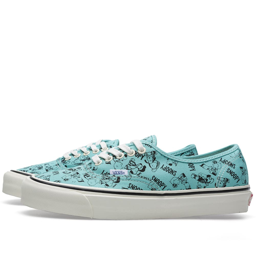 Vans Authentic Og Lx (Snoopy And The Gang) Bleu Turquoise