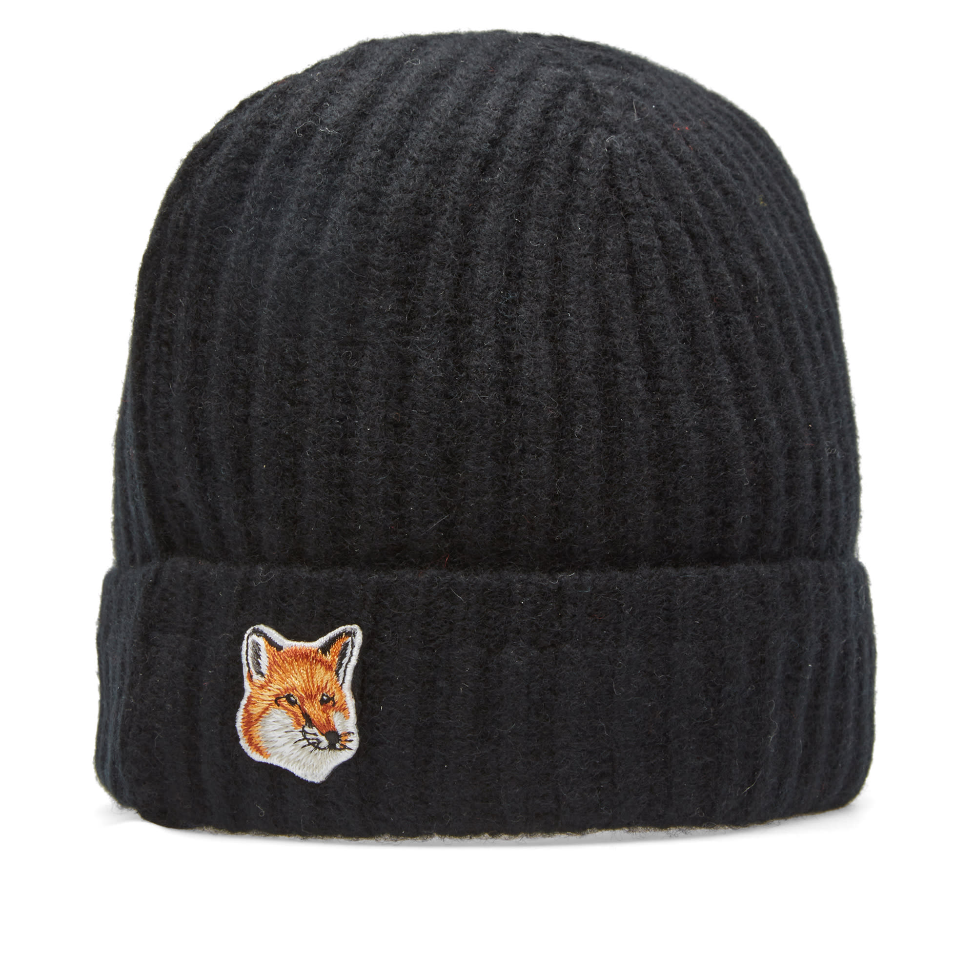 eaa1e231450b9 Maison Kitsuné Fox Beanie Black