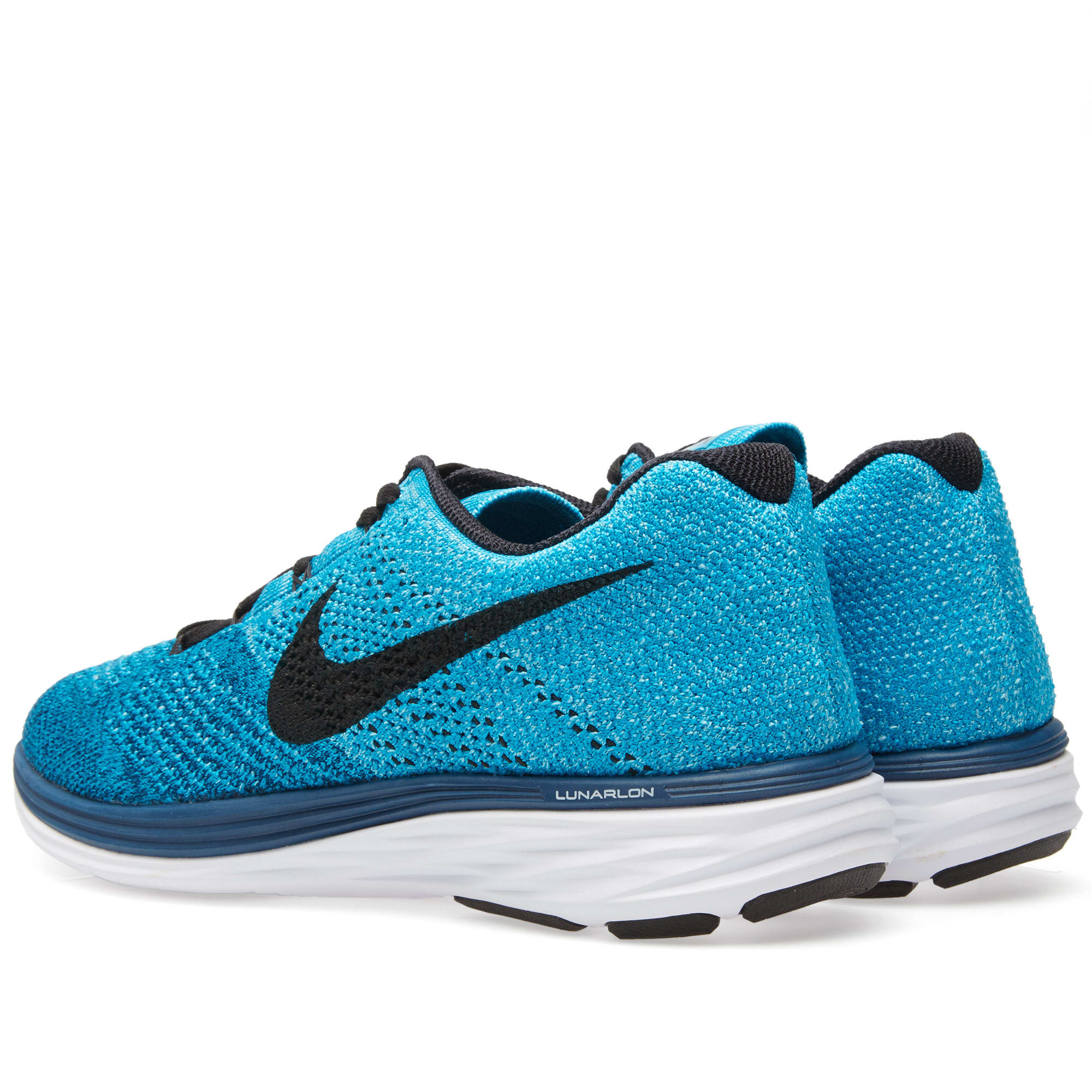 super popular 65f8e 49d69 Nike Flyknit Lunar 3 Brave Blue   Black   END.