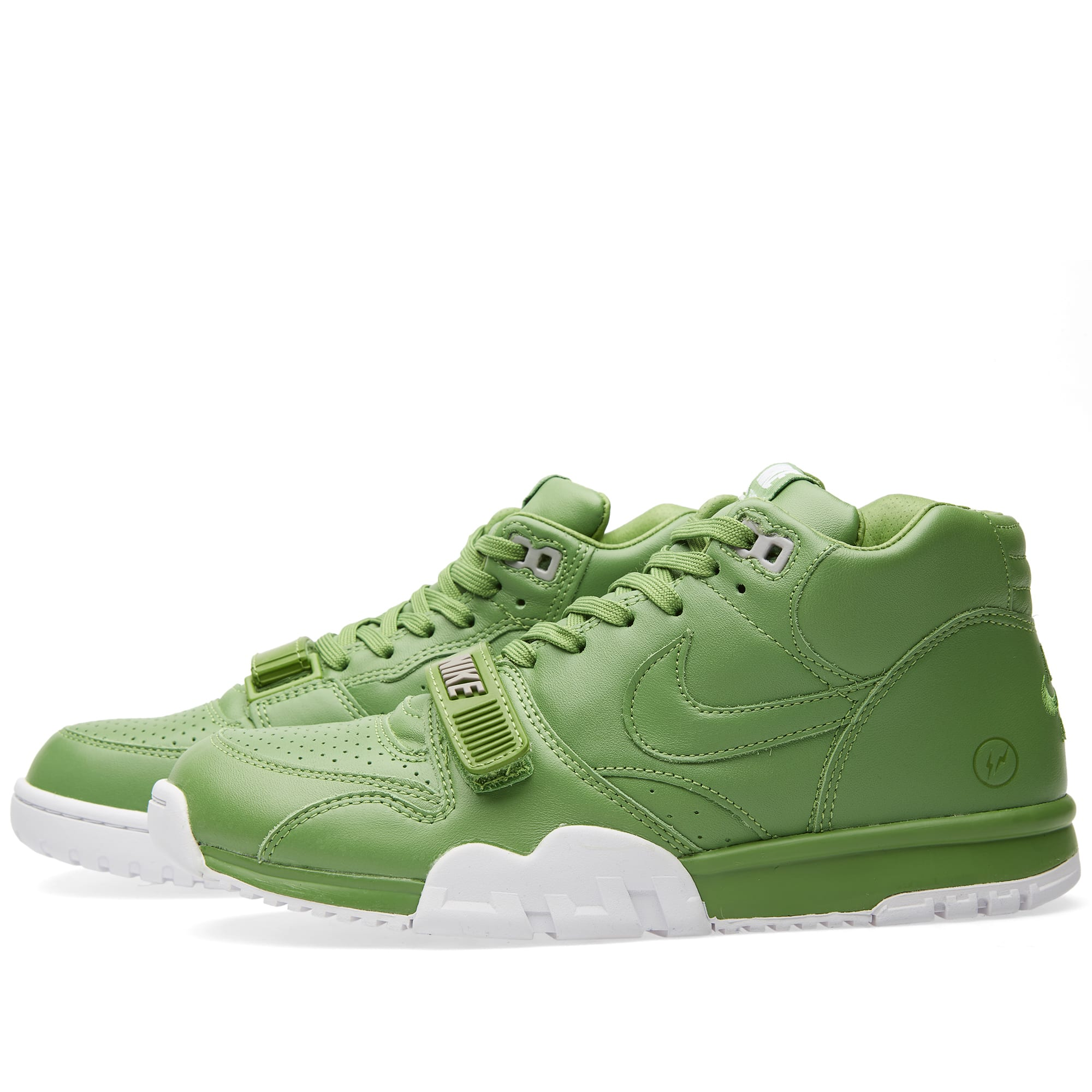 3ac54049856 Nike x Fragment Design Air Trainer 1 Mid SP Chlorophyll & White | END.