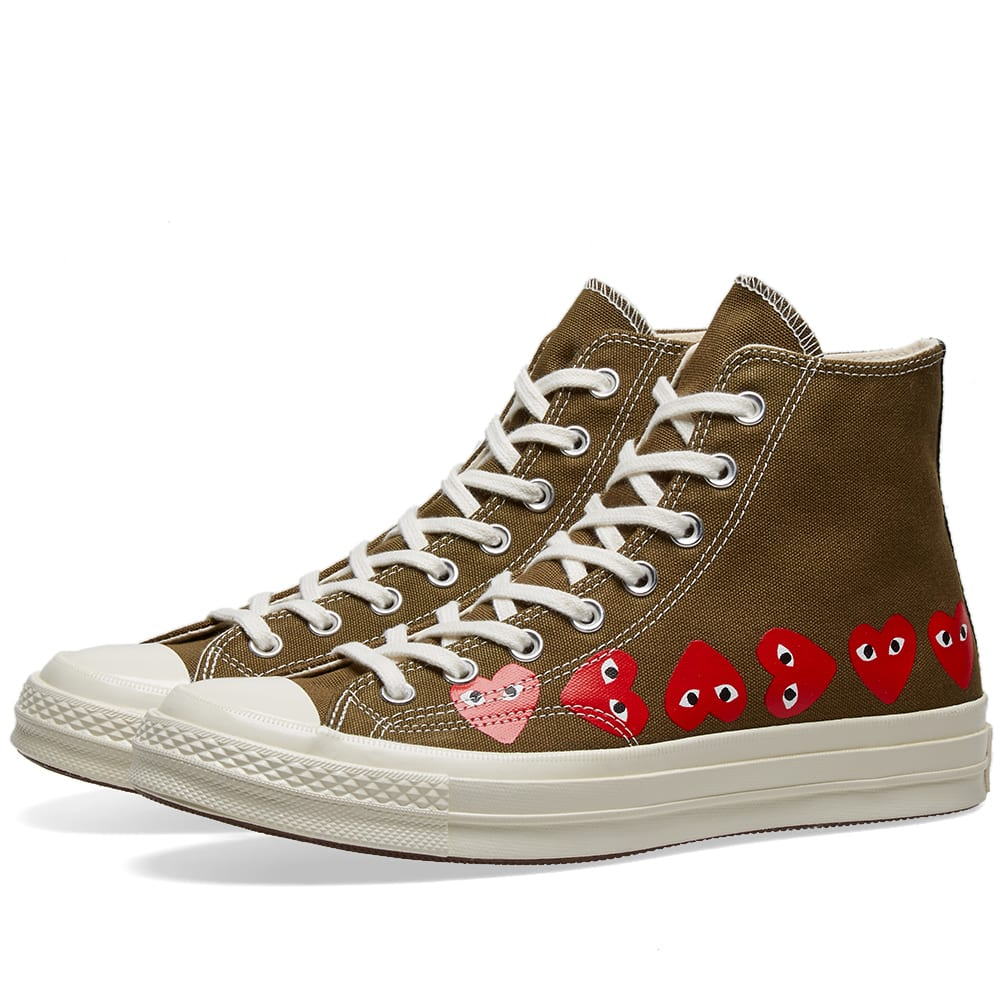 competitive price fe9f7 04618 Comme des Garcons Play x Converse Chuck Taylor Multi Heart 1970s Hi