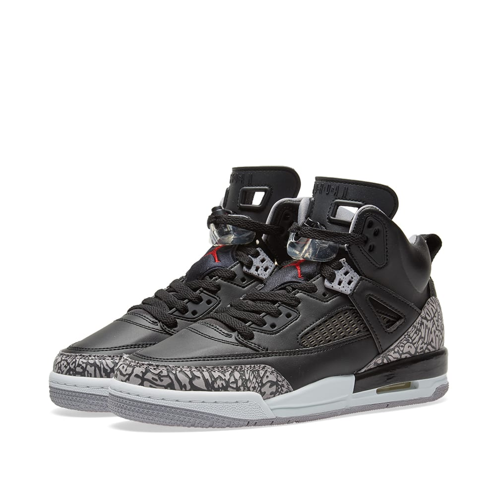 huge selection of 4648b c0a8b Nike Air Jordan Spizike GS Black, Varsity Red   Grey   END.