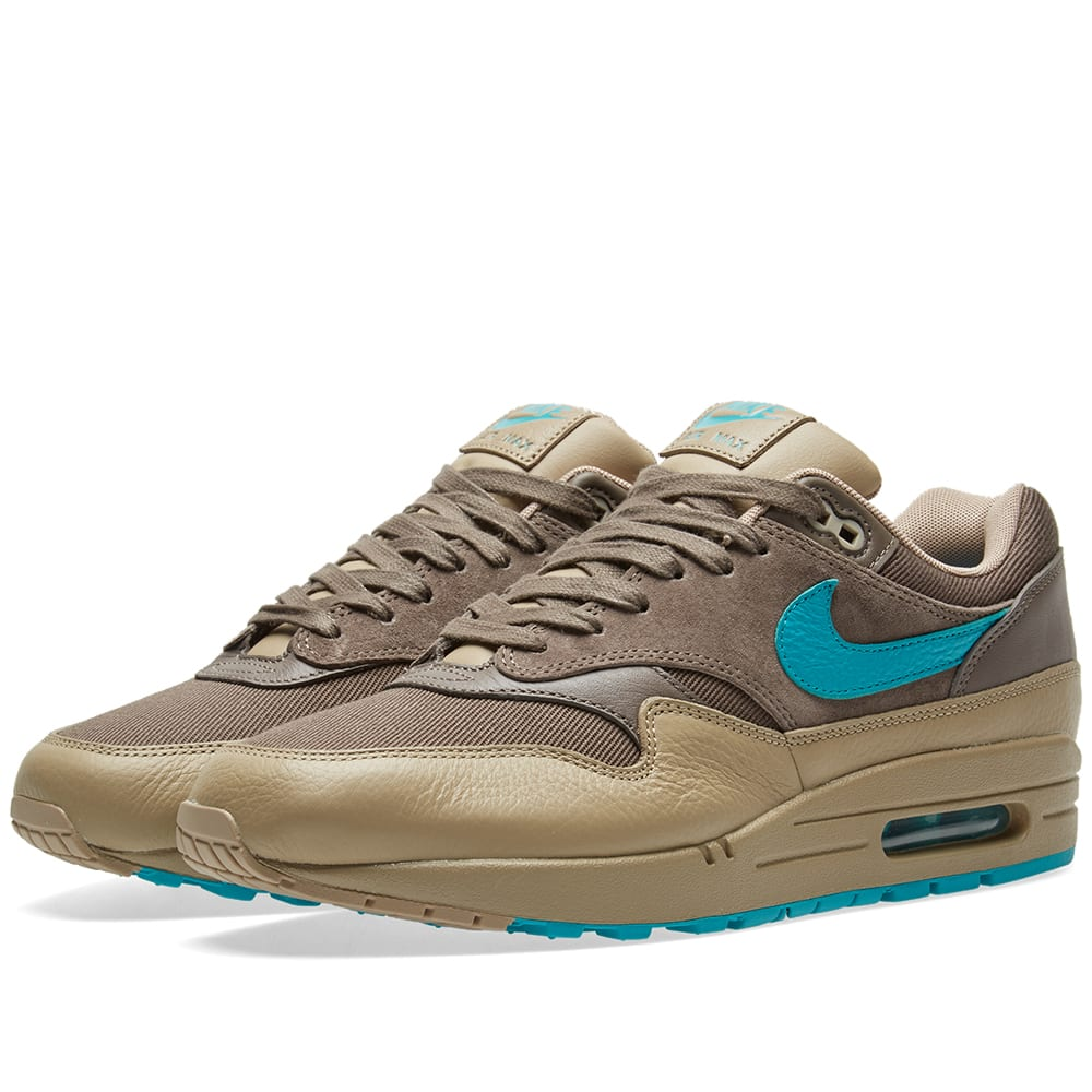 huge selection of a49e1 ffca6 Nike Air Max 1 Premium Ridgerock, Turbo Green   Khaki   END.