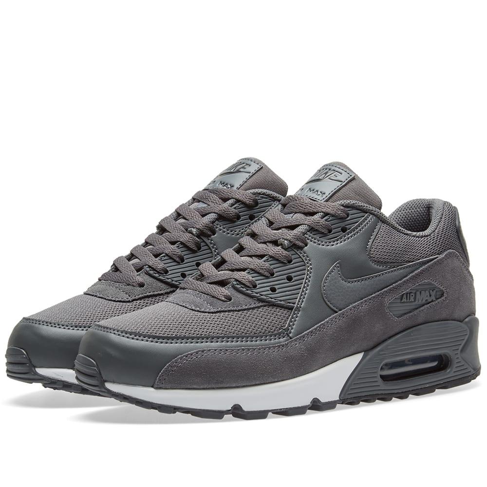 sale retailer fc2c6 5f142 Nike Air Max 90 Essential Dark Grey, Black   White   END.