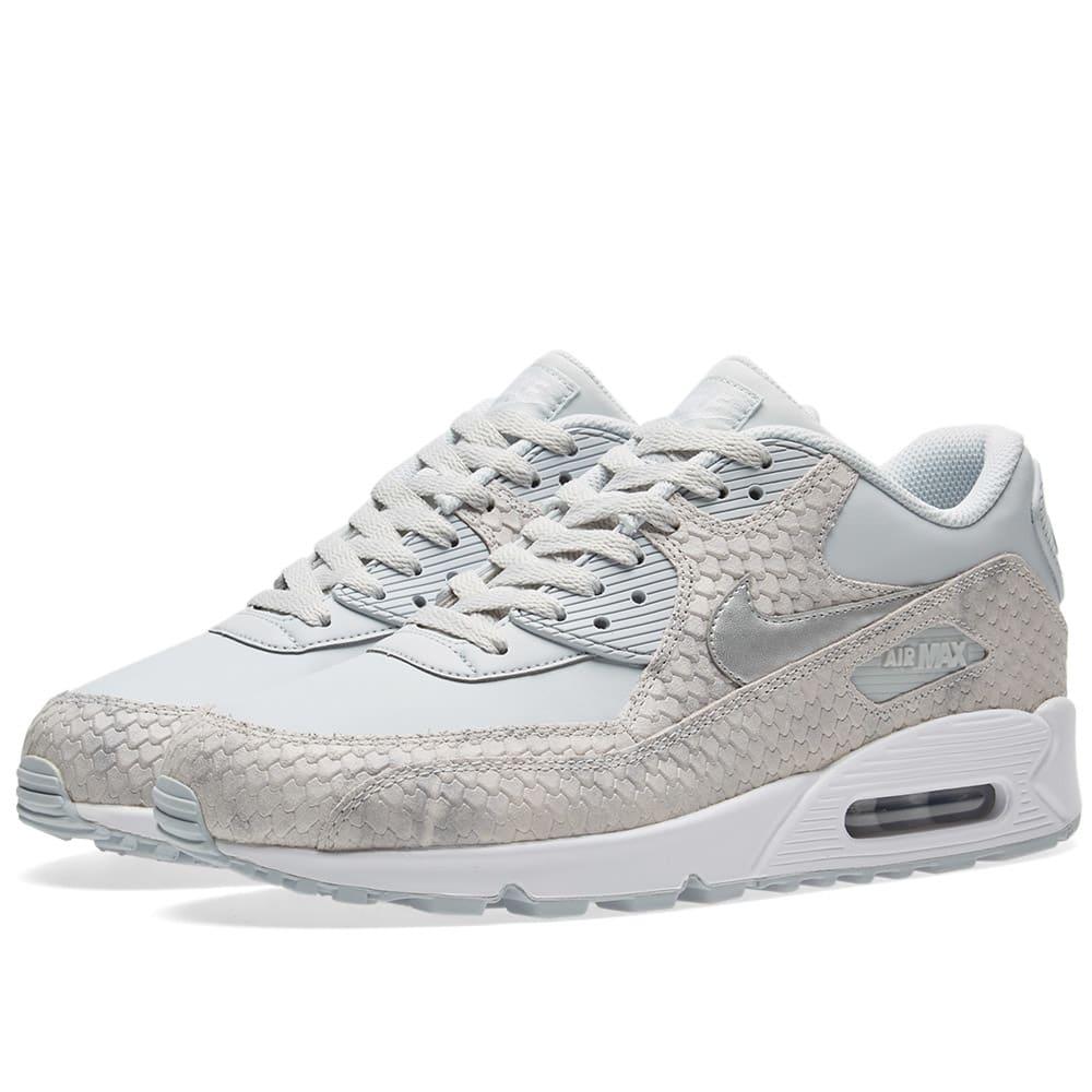 finest selection 543e5 6409a Nike Air Max 90 Premium W Pure Platinum   White   END.