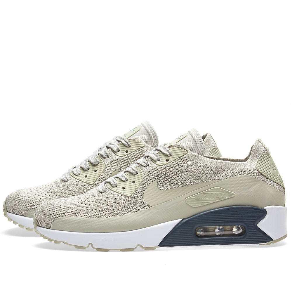 finest selection 0e325 73cb7 Nike Air Max 90 Ultra 2.0 Flyknit Pale Grey   Armory Navy   END.