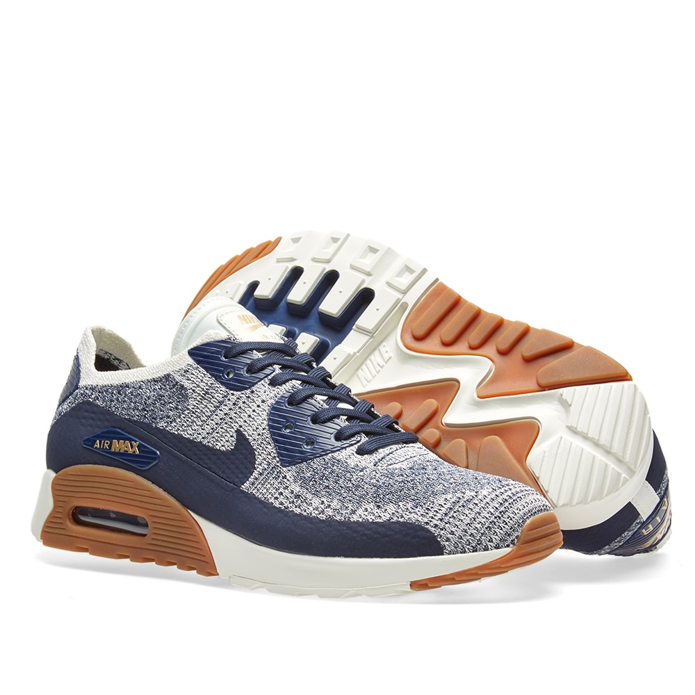 size 40 5c577 d3172 Nike Air Max 90 Ultra 2.0 Flyknit W. College Navy ...