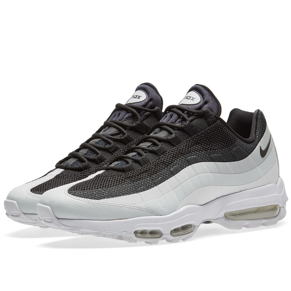Nike Air Max 95 Ultra Essential Black, White & Pure Platinum | END.