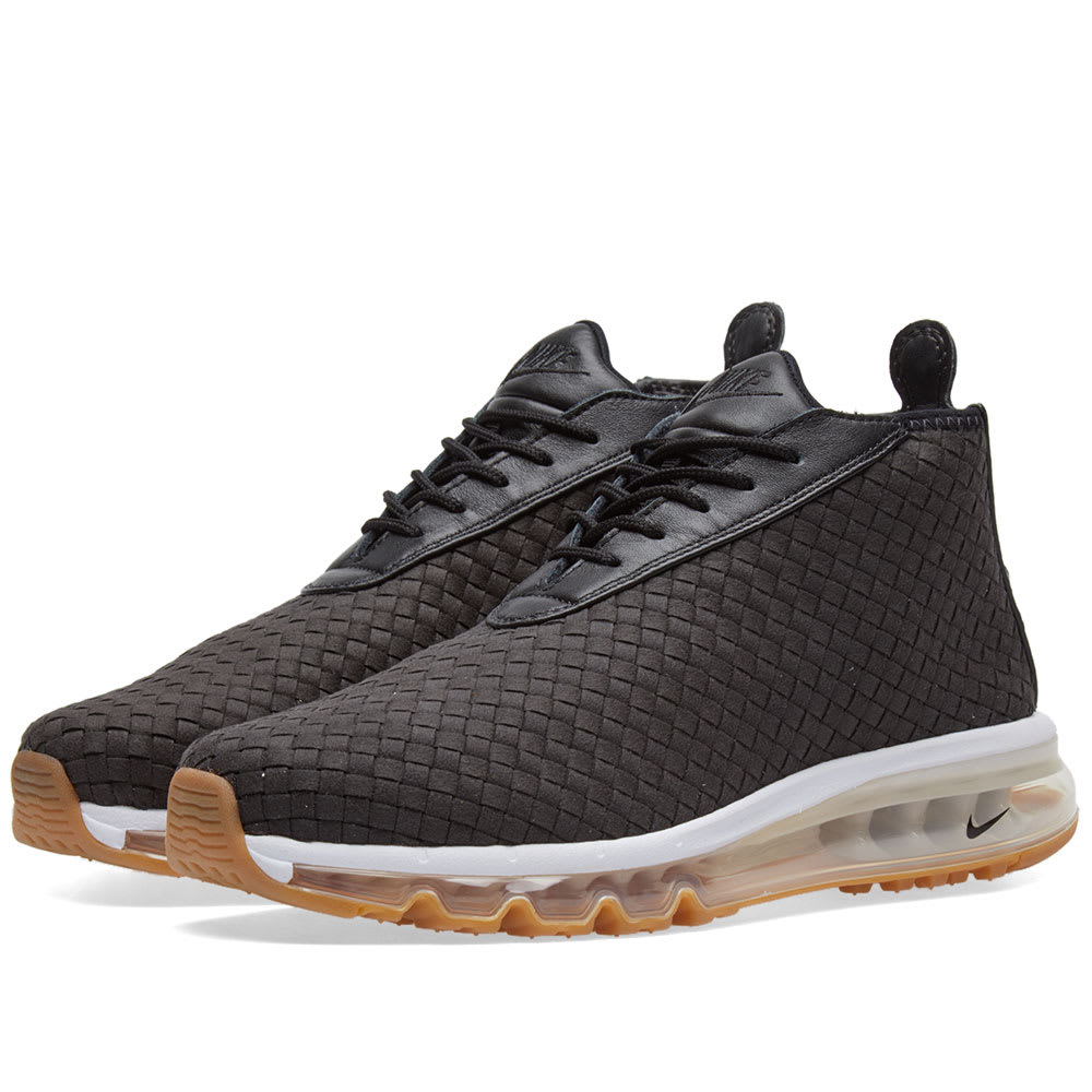 nike air max woven boot black gum